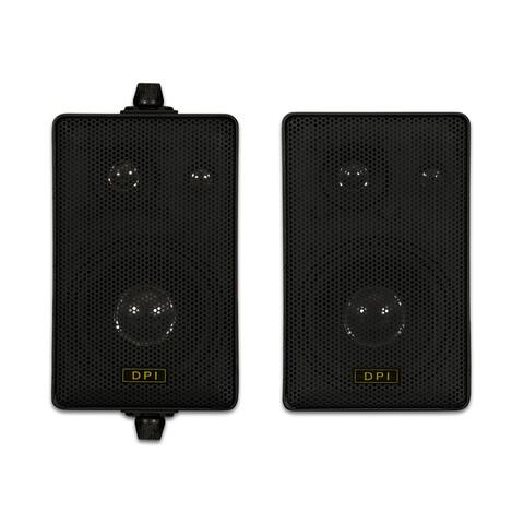 Goldwood Sound DPI-60B Indoor or Outdoor 3 Way Speakers Black Mountable Pair