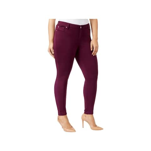 Celebrity Pink Womens Plus Jayden Skinny Jeans Colored Mid-Rise