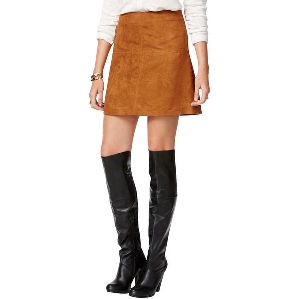 Sanctuary Womens Mini Skirt Faux Suede A-Line