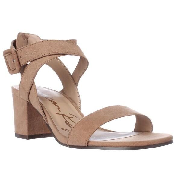 AR35 Caelie Ankle Strap Sandals, Camel