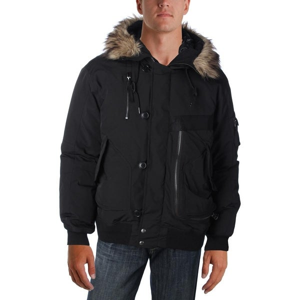 941027198b5 Shop Polo Ralph Lauren Mens Bomber Jacket Hooded Faux Fur - XL - Free  Shipping Today - Overstock - 20485444