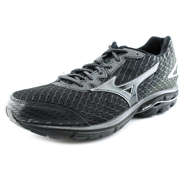 Mizuno Wave Rider 19 Men Round Toe Synthetic Black Running Shoe