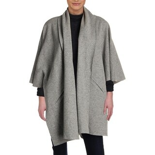 Eileen Fisher Womens Cape Sweater Wool Blend Kimono Sleeves - S/M
