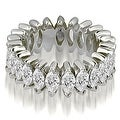 4.50 cttw. 14K White Gold Marquise Diamond Eternity Ring - Thumbnail 0