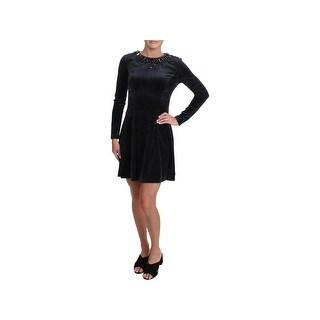 Juicy Couture Black Label Womens Party Dress Velour Embellished