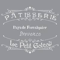 "The French Bakery - Americana Decor Stencil 12""X12"""