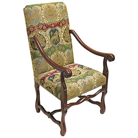 Design Toscano Chateau DuMonde Coat of Arms Dining Arm Chair