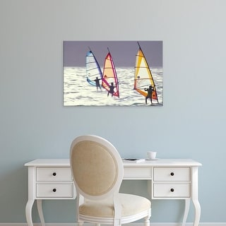 Easy Art Prints Douglas Peebles's 'Windsurfing' Premium Canvas Art