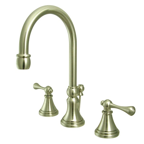 Kingston Brass KS298.BL Governor 1.2 GPM Deck Mounted Bathroom Faucet with Lever Handles - Pop-Up Assembly Included
