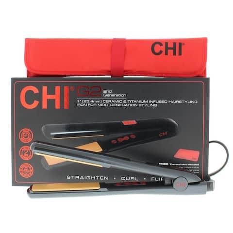 CHI G2 Professional Flat Iron Ceramic & Titanium 1'' Hairstyling Iron