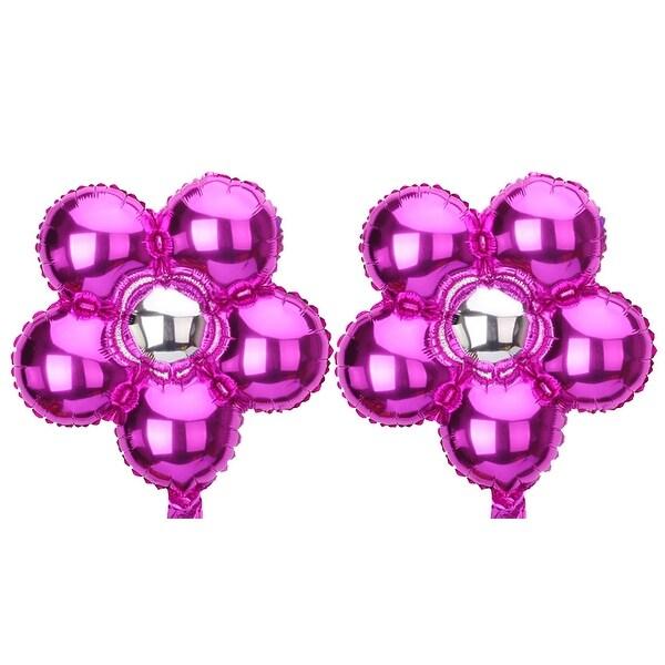 Foil Flower Design Balloon Wedding Party Birthday Celebration Decoration 2 Pcs