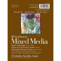 Strathmore 400 Series Mixed Media Pad, 6 x 8 in, 15 Sheets