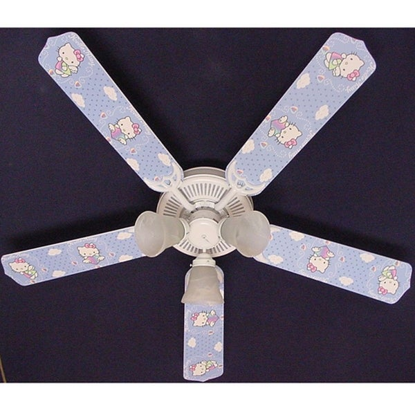 Trendy Hello Kitty Print Blades 52in Ceiling Fan Light Kit - Multi