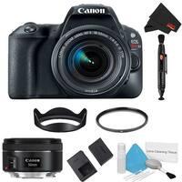Canon EOS Rebel SL2 DSLR Camera with 18-55mm Lens (Black) Kit + 50mm Lens (Intl Model)