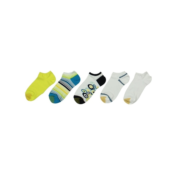 Gold Toe Womens Sock Liners 6PK Printed - 9-11