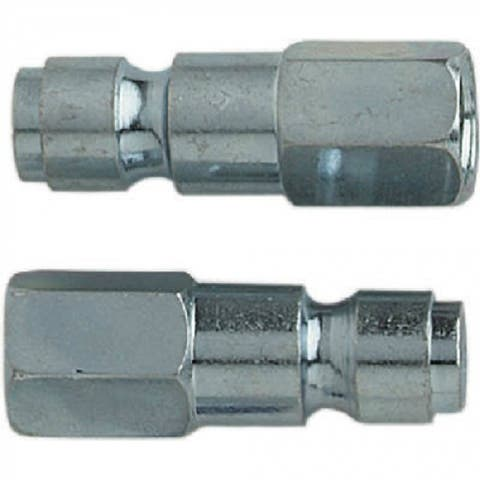 "Campbell Hausfeld PA1012 T-Style Automotive Plug, 3/8"" x 1/4"" NPTF, 2-Pack"