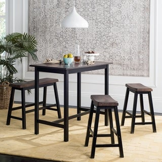 "Link to Safavieh Haley Black/ Brown 4-piece Pub Set - 24"" x 44"" x 36"" Similar Items in Dining Room & Bar Furniture"