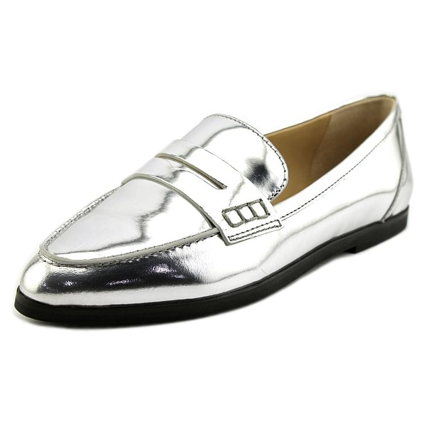 dab96d9031e Shop Michael Kors Connor Women Pointed Toe Leather Silver Loafer ...