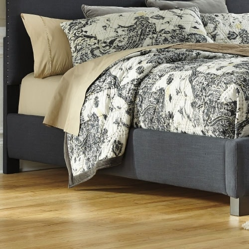 Kasidon Queen Upholstered Rails Dark Gray Kasidon Queen Upholstered Rails Dark Gray
