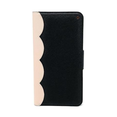 Kate Spade New York Scallop Colorblock Saffiano Leather Wrap Folio iPhone XR Case