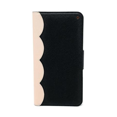 Kate Spade New York Scallop Colorblock iPhone Xs Max Saffiano Leather Wrap Folio Case