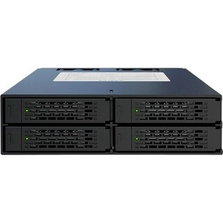 """Icy Dock MB994SP-4SB-1 Icy Dock MB994SP-4SB-1 DAS Array - 4 x HDD Supported - 4 x SSD Supported - 4 x Total Bays - SATA/600 - 5"