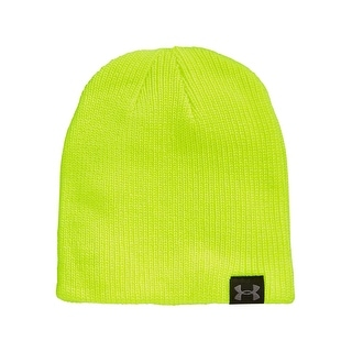 Under Armour Performance Basic Knit Beanie Lemon Yellow Solid One Size