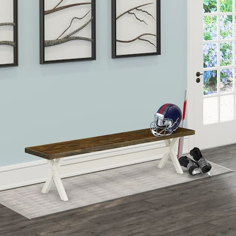 East West Furniture Wonderful color bench top surface and an amazing 4 legs V style in many finish options solid wood - 72