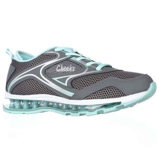 Cheeks Air Trac Trainer Athletic Shoes - Gray