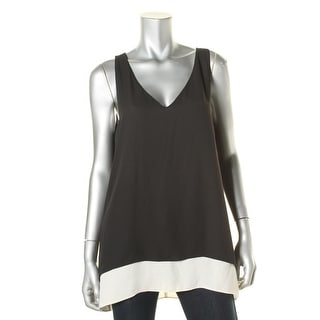 Karen Kane Womens Pullover Top Chiffon Sleeveless
