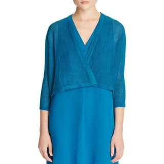 Eileen Fisher Womens Kimono Cardigan Sweater Organic Linen Ribbed Trim|https://ak1.ostkcdn.com/images/products/is/images/direct/242761e0218bd3f39a4924cad56000df406626b8/Eileen-Fisher-Womens-Kimono-Cardigan-Sweater-Organic-Linen-Ribbed-Trim.jpg?impolicy=medium