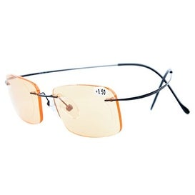 Eyekepper Titanium Rimless Computer Reading Glasses Readers Men Women Black+2.00