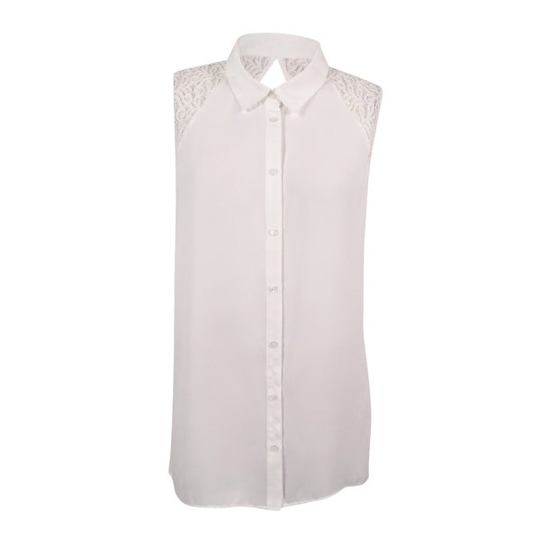 4ca6f8d78f Shop City Chic Women s Trendy Plus Size Lace-Back Blouse (XXL 24W ...