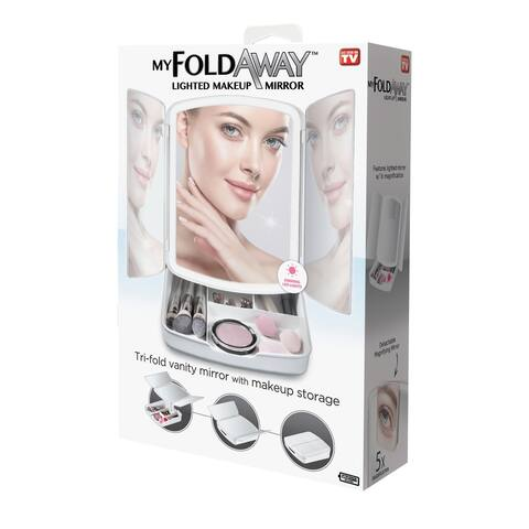 MyFoldawayMirror- Trifold Mirror with Storage