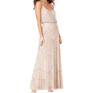Adrianna Papell Womens Formal Dress Beaded Blouson