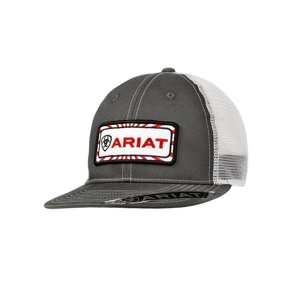 Shop Ariat Western Hat Mens Snap Logo Mesh Baseball One Size Gray - Free  Shipping On Orders Over  45 - Overstock.com - 19676126 24393d9508c3