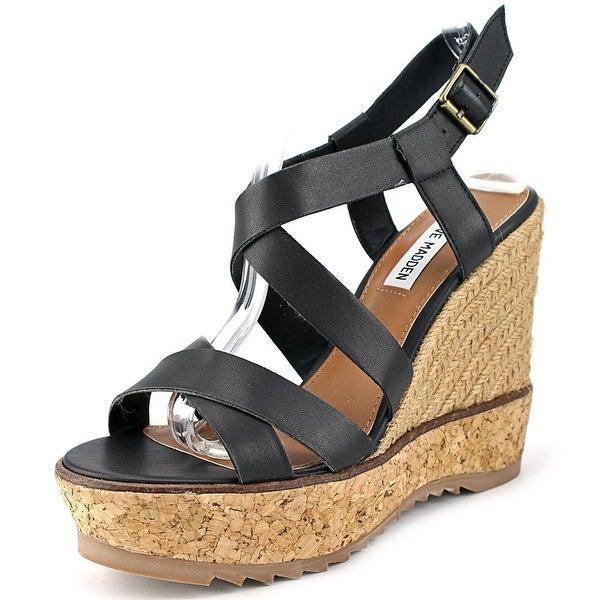 Steve Madden Elllaa   Open Toe Synthetic  Wedge Sandal