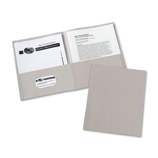 Avery AVE47990CT Two-Pocket Folders Letter Sheet, Grey