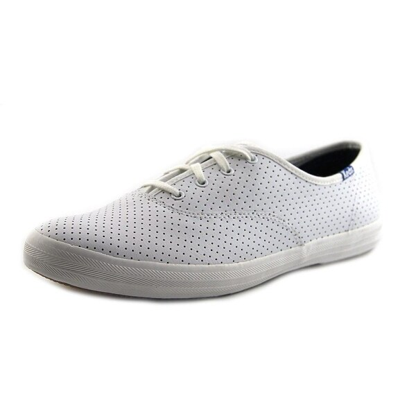 98605fb08 Shop Keds Champion Perf Women Round Toe Leather White Sneakers ...