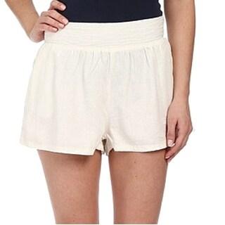 Union Bay NEW White Size 1 Junior Linen Blend Zipper Back Shorts