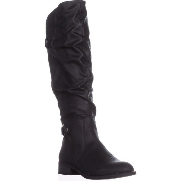 White Mountain Leto Slouch Knee High Boots, Black - 8.5 us