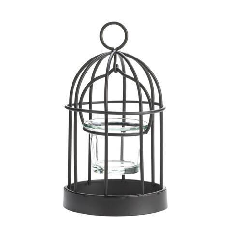 Charming Iron Birdcage Candleholder