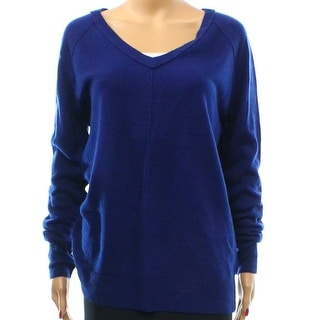 Sweet Romeo NEW Blue Women's Size Small S Ribbed V-Neck Sweater