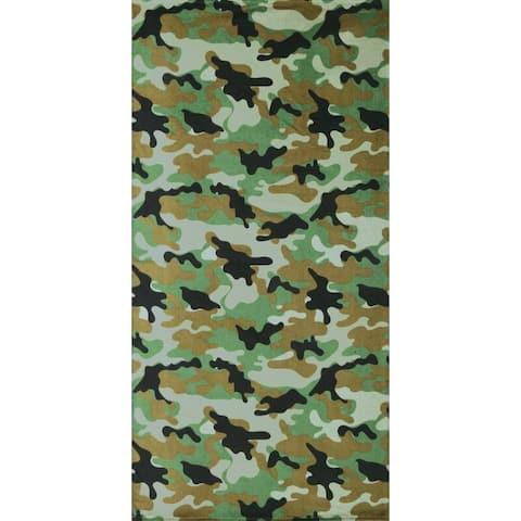 Camouflage Green 30x60 Brazilian Velour Beach Towel