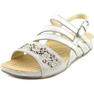 Romika fidschi 31 Women Open-Toe Leather Silver Slingback Sandal