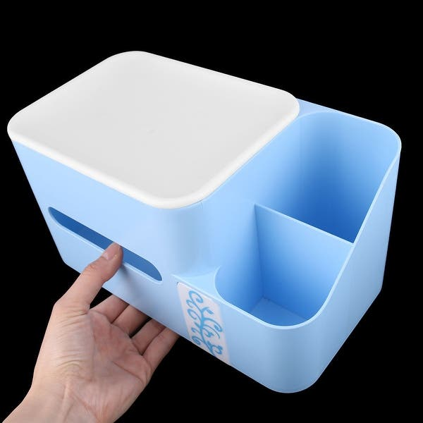 Plastic Rectangular Tissues Box for Hotel /& Guest Houses Bathroom Gobesty Tissue Box Holder Living Room Office Eco-Friendly Blue Tissue Paper Boxes with Bamboo Charcoal Bag Kitchen and More