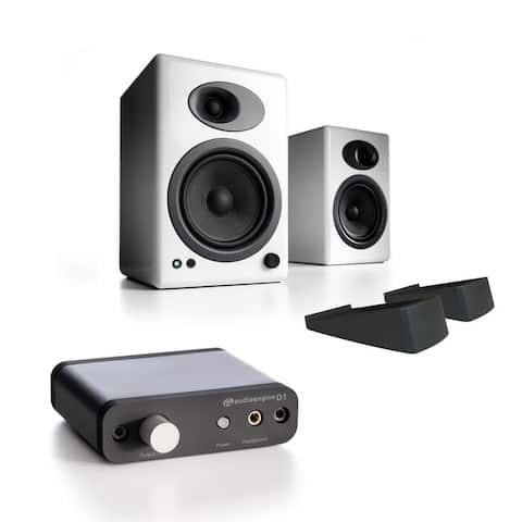Audioengine A5+ Classic Speakers w/ stands & D1 24-Bit DAC w/ Headphone Amp