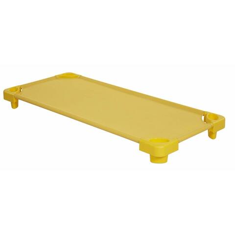 Offex Standard Stackable RTA Kiddie Cot in Yellow - 6 Pack