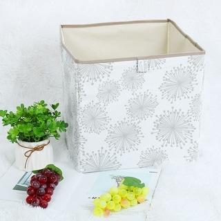 """Linen Fabric Storage Bin Toy Box Organizer 13"""" x 13"""" x 13"""" Gray Gypsophila Style - Gray Gypsophila - 13"""" x 13"""" x 13"""""""