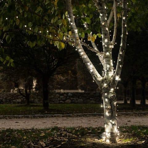 Solar Powered 125 LED String Light - Warm White